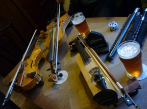 A group of unusual fiddles